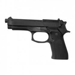 Pistola Allenamento Polizia. Negro. Gomma termoplastica. Cm 23