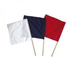 Bandiere arbitri. Rosso. Blu. Bianco. Unità.