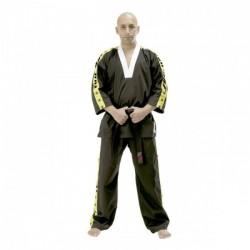 "THAI BOXING Kimono Kick. Raso Nero/giallo. ""Fuji/Star Stripes"". T/S-M-L-XL"