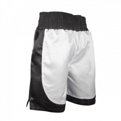BOXEO INGLESE / BOXEO FRANCESE Short Boxe. Bianco/Nero. T/M-L-XL