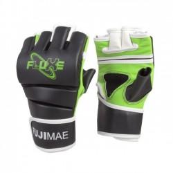 MMA GLOVES Guanto MMA FluXe. Pelle sintetica. Nero/Limone. T/S/M-L/XL