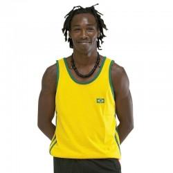 CAPOEIRA Maglia Capoeira. gialla con due frange verdi. T/S-M-L-XL