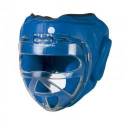 GUANTI DA SACO Casco Cuoio. Maschera policarbonato trasparente. Blu, Nero