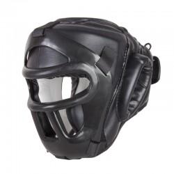 GUANTI DA SACO Casco maschera estraibile. Protezione superiore. Taglia unica. Nero, Rosso