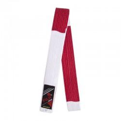 Cinture speciale Maestro. Rosso/Bianco. 300 cm