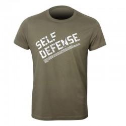 FUJIMAE SELF DEFENSE T-SHIRT. TEXT.