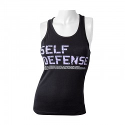 FUJIMAE SELF DEFENSE WOMEN'S T-SHIRT. TEXT.