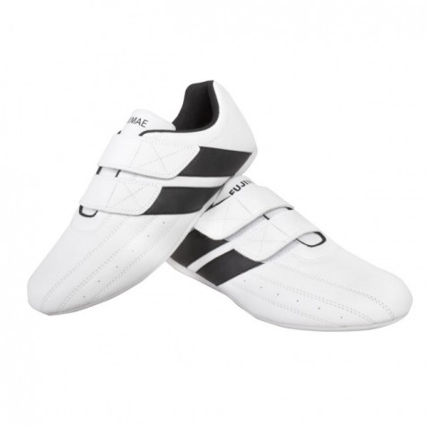 Scarpa Taekwondo Double-Power Velcro. Bianco. Taglias: 36/46