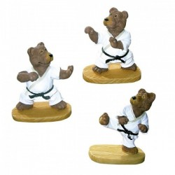 Set tre figure Orsi-Karate. 6 cm