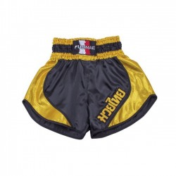 THAI BOXING Short Thai. Nero-Oro. T/S-M-L-XL