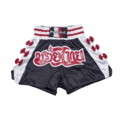 THAI BOXING Short Thai . Nero. Fiocchi Rossi. T/S-M-L-XL